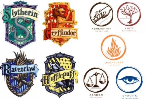 Harry Potter Houses meet Divergent Factions