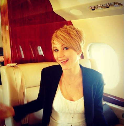 Jennifer Lawrence New Pixie Cut