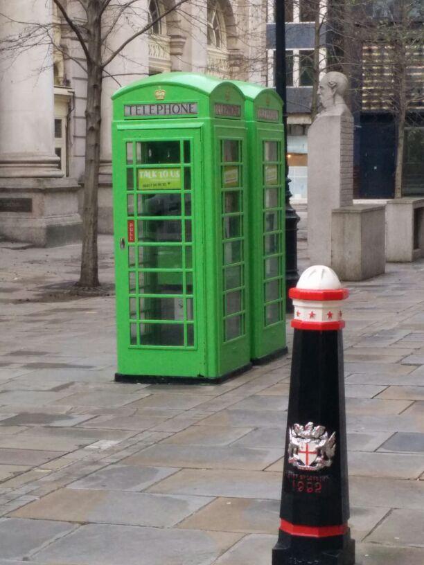London green phone box