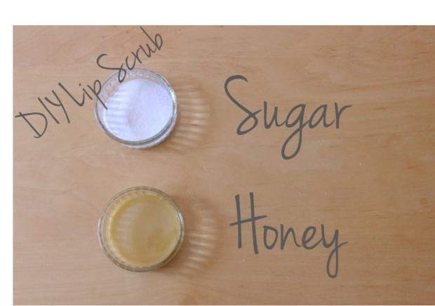 DIy Lip Scrub Sugar and Honey