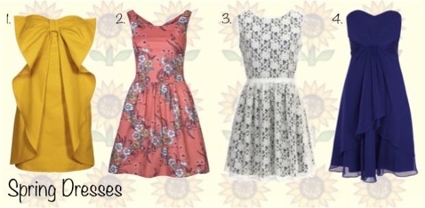 Spring Dresses Wishlist: Sisley, Naf Naf, Pepe Jeans, Coast
