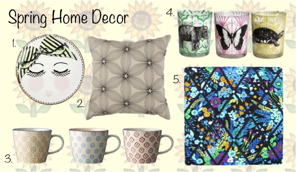 Spring Home Decor Wishlist: Miss Etoile, Bloomingville, Zara Home, H&M Home, Vera Bradley