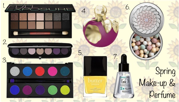 Spring Makeup and Perfume Wishlist: Smashbox, Marc Jacobs, Urban Decay, Nina Ricci, Guerlain, Butter London, Bourjois