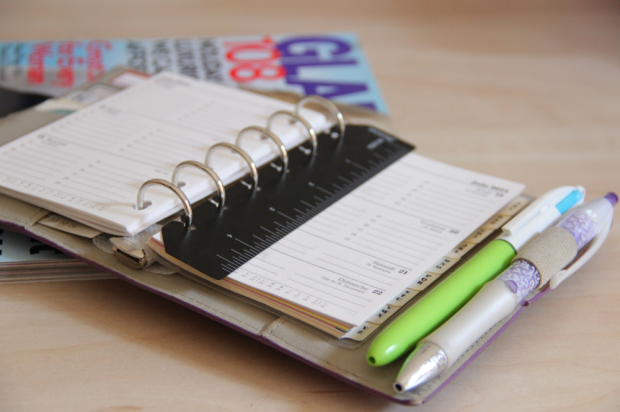 Staying Organised - Filofax and Bic four color pen