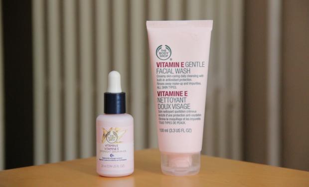 The Body Shop Vitamin E Gentle Facial Wash and Serum-in-Oil