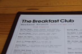 The Breakfast Club Angel Menu