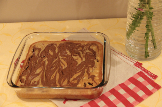 Nutella White Chocolate Blondies Recipe